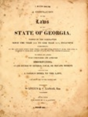 Historic Georgia Digests and Codes